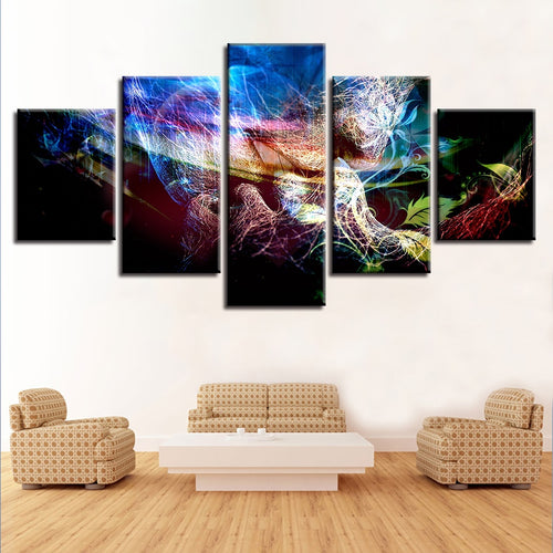 Love Kiss 5 Piece HD Multi Panel Canvas Wall Art Frame