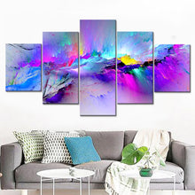 Multicolored Abstract 5 Piece HD Multi Panel Canvas Wall Art Frame