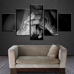 Mixed Martial Arts 5 Piece HD Multi Panel Canvas Wall Art Frame