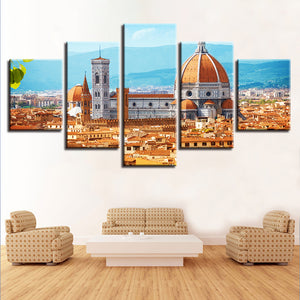 Florence Cathedral 5 Piece HD Multi Panel Canvas Wall Art Frame
