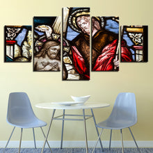 Christ The Savior 5 Piece HD Multi Panel Canvas Wall Art Frame