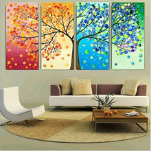 Four Season Tree 4 Piece HD Multi Panel Canvas Wall Art Frame