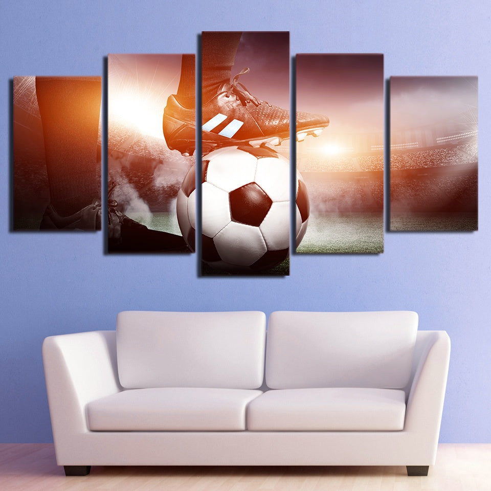 Football Landscape 5 Piece HD Multi Panel Canvas Wall Art Frame