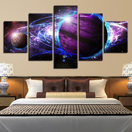 Universe Space 5 Piece HD Multi Panel Canvas Wall Art Frame