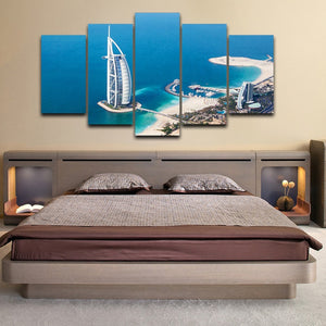 Burj Al Arab  Piece HD Multi Panel Canvas Wall Art Frame
