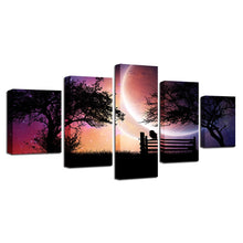 Sunset Glow 5 Piece HD Multi Panel Canvas Wall Art Frame