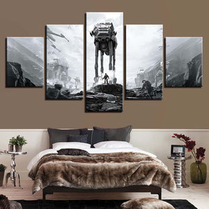 Star Wars 5 Piece HD Multi Panel Canvas Wall Art Frame