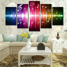 Music Notation 5 Piece HD Multi Panel Canvas Wall Art Frame