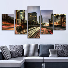 Los Angeles Highways 5 Piece HD Multi Panel Canvas Wall Art Frame
