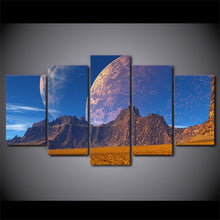 Mountains And Earth 5 Piece HD Multi Panel Canvas Wall Art Frame