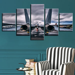 Aircraft 5 Piece HD Multi Panel Canvas Wall Art Frame