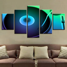 DJ Turntable 5 Piece HD Multi Panel Canvas Wall Art Frame