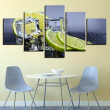 Fruit Lemon 5 Piece HD Multi Panel Canvas Wall Art Frame
