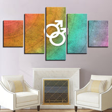 The Man Sign 5 Piece HD Multi Panel Canvas Wall Art Frame