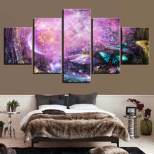 Butterflies Fly 5 Piece HD Multi Panel Canvas Wall Art Frame