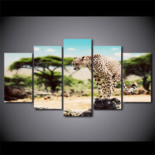Leopard 5 Piece HD Multi Panel Canvas Wall Art Frame