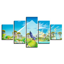 Paradise Animation 5 Piece HD Multi Panel Canvas Wall Art Frame