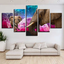 Majestic Elephants 5 Piece HD Multi Panel Canvas Wall Art Frame
