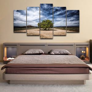 Juniper Tree 5 Piece HD Multi Panel Canvas Wall Art Frame