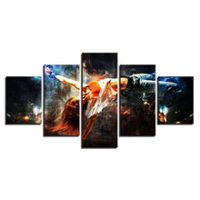 Free Woman 5 Piece HD Multi Panel Canvas Wall Art Frame