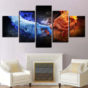 Eternal Connection 5 Piece HD Multi Panel Canvas Wall Art Frame