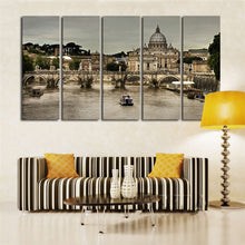 Cathedral in Italy 5 Piece HD Multi Panel Canvas Wall Art Frame