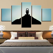 Mountaintop Yoga 5 Piece HD Multi Panel Canvas Wall Art Frame