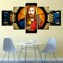 Jesus Christ Painting 5 Piece HD Multi Panel Canvas Wall Art Frame