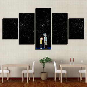 Rick And Morty 5 Piece HD Multi Panel Canvas Wall Art Frame