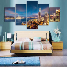 High-Rise Building 5 Piece HD Multi Panel Canvas Wall Art Frame