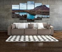Iceland 5 Piece HD Multi Panel Canvas Wall Art Frame