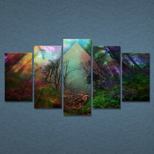 Rainbow Nature 5 Piece HD Multi Panel Canvas Wall Art Frame