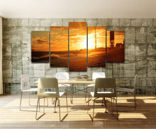 The Setting Sun 5 Piece HD Multi Panel Canvas Wall Art Frame