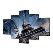 Paris Tower 5 Piece HD Multi Panel Canvas Wall Art Frame