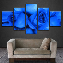 Bluelover Rose 5 Piece HD Multi Panel Canvas Wall Art Frame