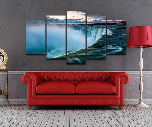 Niagara Falls at Sunrise 5 Piece HD Multi Panel Canvas Wall Art Frame
