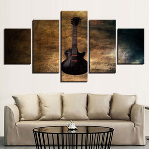 Guitar 5 Piece HD Multi Panel Canvas Wall Art Frame