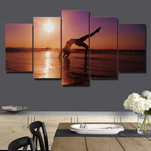 Women Doing Yoga 5 Piece HD Multi Panel Canvas Wall Art Frame