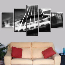 Guitar Abstract Strings 5 Piece HD Multi Panel Canvas Wall Art Frame