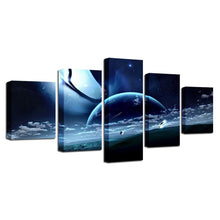 Lunar Landscape 5 Piece HD Multi Panel Canvas Wall Art Frame