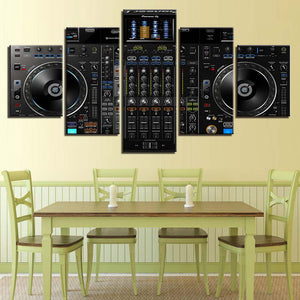 Music Tool 5 Piece HD Multi Panel Canvas Wall Art Frame