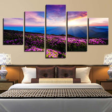 Lavender Valley 5 Piece HD Multi Panel Canvas Wall Art Frame