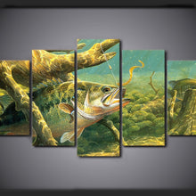 Fish Under The Sea 5 Piece HD Multi Panel Canvas Wall Art Frame