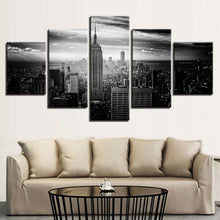 New York City 5 Piece HD Multi Panel Canvas Wall Art Frame