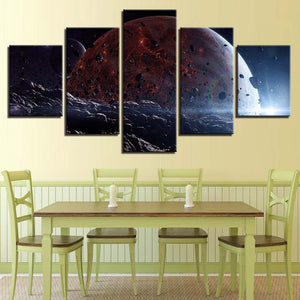 Unknown World  5 Piece HD Multi Panel Canvas Wall Art Frame