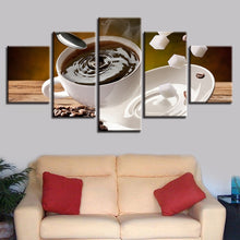 Coffee And Sugar 5 Piece HD Multi Panel Canvas Wall Art Frame