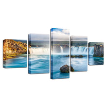 Waterfall 5 Piece HD Multi Panel Canvas Wall Art Frame