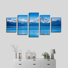 Snow Mountains 5 Piece HD Multi Panel Canvas Wall Art Frame