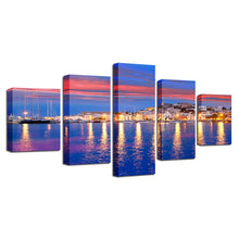 Beautiful Island Of Ibiza 5 Piece HD Multi Panel Canvas Wall Art Frame