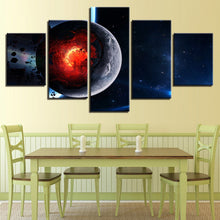 Cosmos Space 5 Piece HD Multi Panel Canvas Wall Art Frame